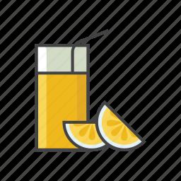 beverage, drink, fruit juice, glasses, healthy, juice, orange icon