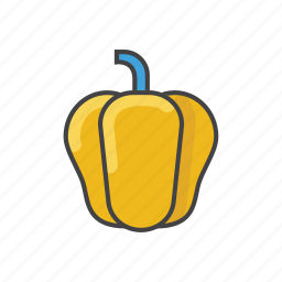 bell pepper, capsicum, food, paprika, pepper, sweet pepper, vegetable icon