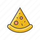 food, pepperoni, pizza, pizza slice, pr, slice, snack icon