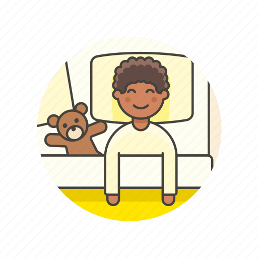 bear, bed, bedtime, boy, lifestyle, man, sleep, teddy icon
