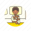 bear, bedtime, boy, lifestyle, man, rest, sleep, teddy icon