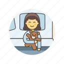 bear, bedtime, girl, lifestyle, rest, sleep, teddy, woman icon