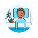 bedtime, boy, lifestyle, man, pajamas, robot, sleep icon