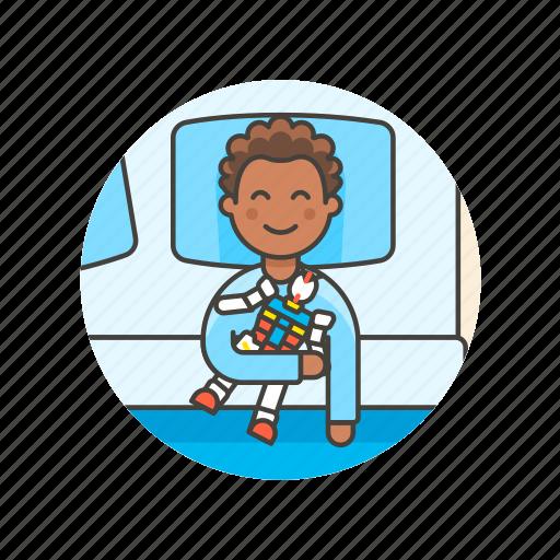 bedtime, boy, lifestyle, man, pajamas, rest, robot, sleep icon