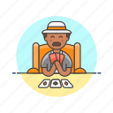 card, elder, fun, game, lifestyle, man, social icon