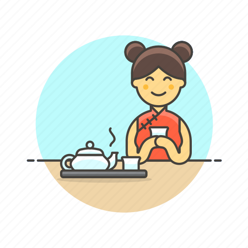 chinese, drink, green, hobby, lifestyle, tea, woman icon