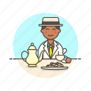 biscuit, english, lifestyle, man, party, relax, tea icon