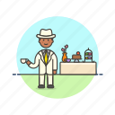 dessert, english, formal, lifestyle, man, party, relax, tea icon