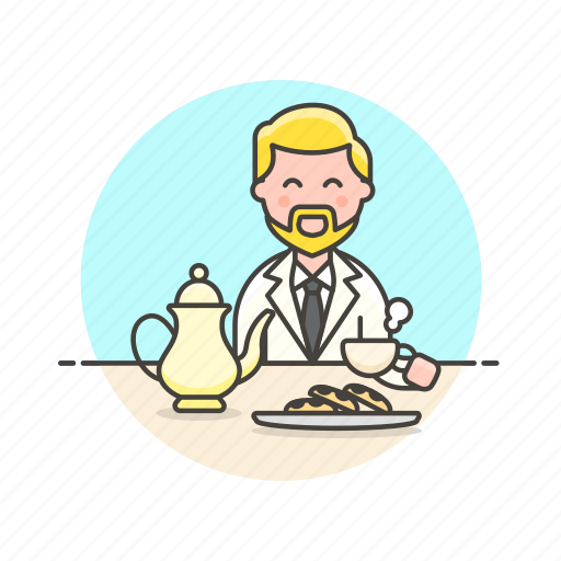 dessert, english, hobby, lifestyle, man, party, tea icon