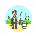 asian, fisherman, lifestyle, male icon
