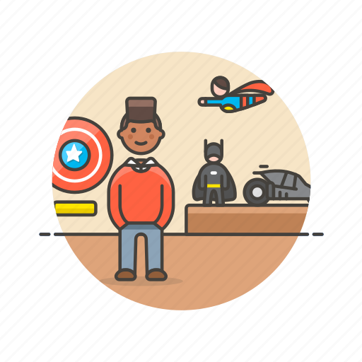 batman, collector, hero, lifestyle, man, model, superman icon