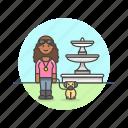 lifestyle, lover, pet, dog, exercise, walk, woman