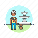 dog, exercise, hobby, lifestyle, lover, man, pet, walk icon