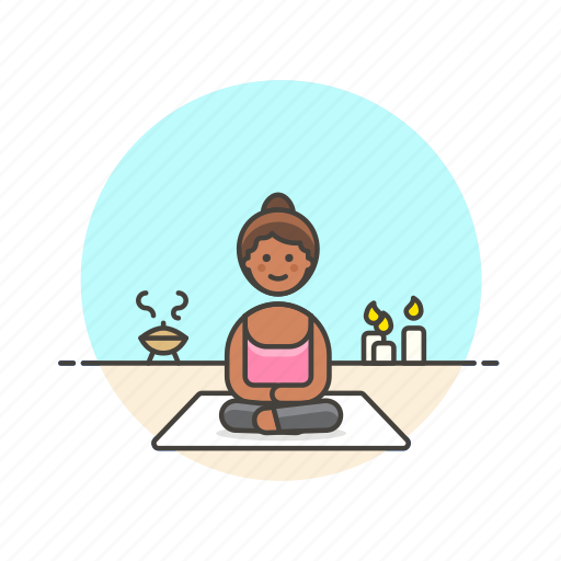 candle, lifestyle, meditation, relax, spa, yoga, zen icon