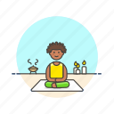 candle, lifestyle, meditation, relax, spa, woman, yoga, zen icon
