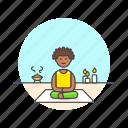 candle, lifestyle, meditation, relax, spa, woman, yoga, zen icon
