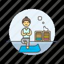 balance, hobby, lifestyle, mat, relax, woman, yoga, zen icon