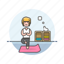balance, exercise, lifestyle, relax, woman, yoga, zen icon