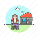 elder, grandfather, home, house, lifestyle, man, rest icon