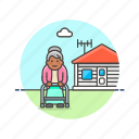 elder, grandmother, home, house, lifestyle, rest, woman icon
