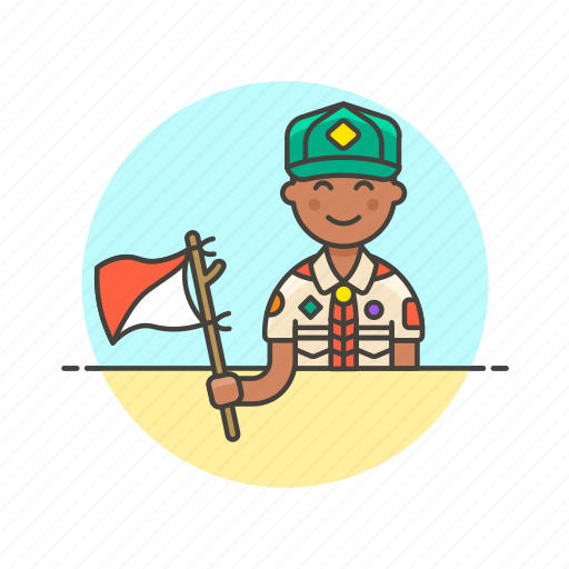 flag, hobby, lifestyle, man, scout, semaphore, sign icon