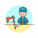 flag, hobby, lifestyle, man, scout, semaphore, sign icon