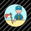 lifestyle, scout, flag, hobby, man, semaphore, sign