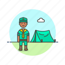 camping, lifestyle, scout, tent, adventure, explore, man