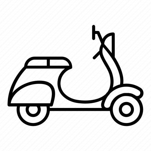 bike, delivery, motorbike, motorcycle, scooter, transport, transportation icon