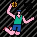 action, activity, basket, basketball, jump, sport