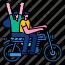 motorcycle, ride, rider, transportation, travel, vehicle