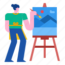 canvas, artist, drawing, paintbrush, painter, paint icon