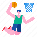 activity, jump, basket, basketball, sport, action icon