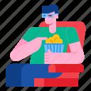 cinema, entertainment, film, movie, popcorn, theater icon