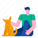 animal, dog, lifestyle, puppy, friendship, pet icon