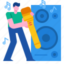 entertainment, microphone, music, musical, singing, song icon