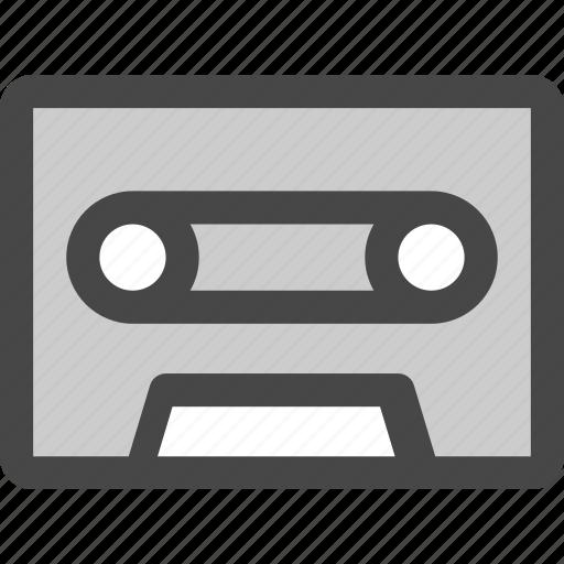audio, cassette, music, play, record, retro, tape icon