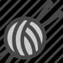 ball, craft, hobby, knitting, needles, whool, yarn icon