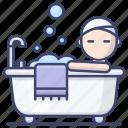 bath, bathroom, bathtub, relax