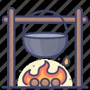bonfire, camping, camp, campfire icon