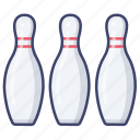 bowling, game, sports, hobby icon