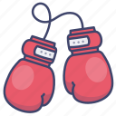 boxing, sports, fight, gloves icon