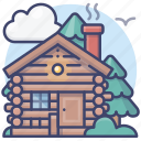 cabin, vacation, holiday, resort icon