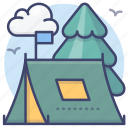 camping, tent, camp, outdoor icon