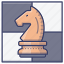 chess, horse, knight, game icon