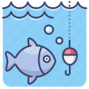 fishing, fish, rod, hobby icon