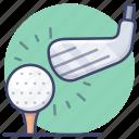 golf, hit, driver, club icon