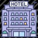 hotel, resort, building, travel
