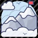 mountain, climb, hiking, climbing