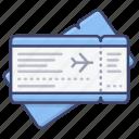 plane, ticket, pass, flight icon